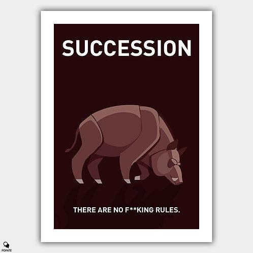 Succession Minimalist Poster - Boar on the Floor
