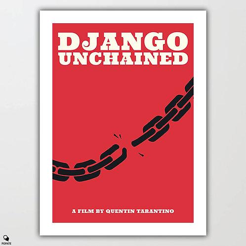 Django Unchained Minimalist Poster - Juneteenth