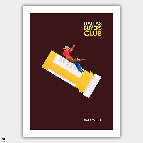 Dallas Buyers Club Minimalist Poster