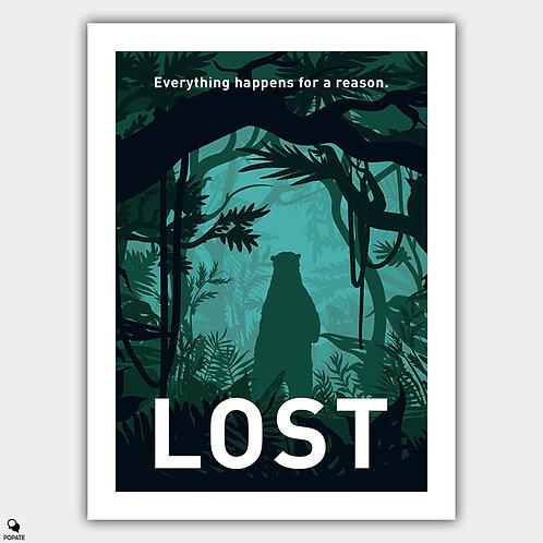 Lost Minimalist Poster - Polar Bear