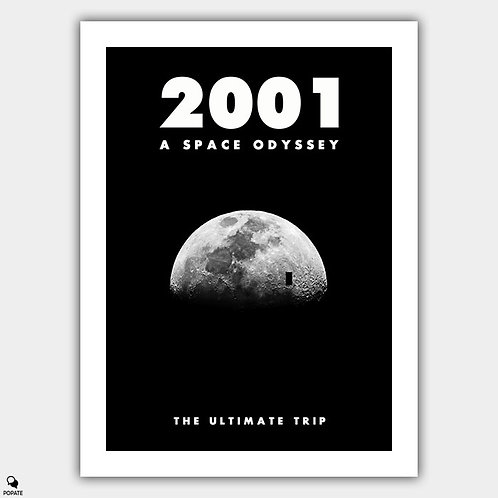 2001 A Space Odyssey Minimalist Poster - Moon