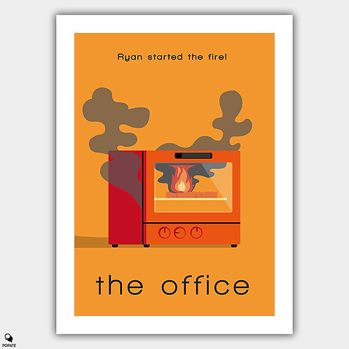 The Office Minimalist Poster - Ryan Started the Fire