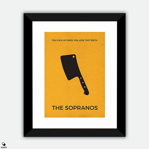 The Sopranos Minimalist Framed Print - Cleaver
