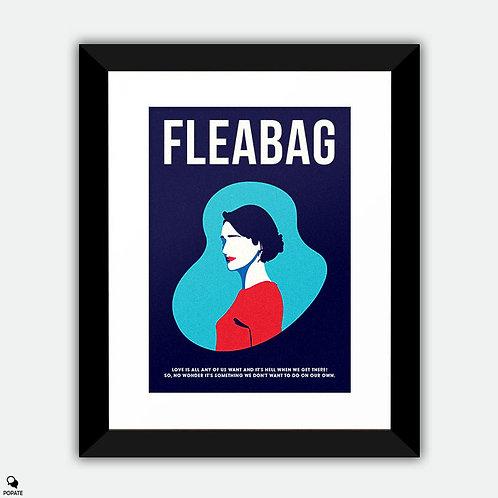 Fleabag Minimalist Framed Print - Love