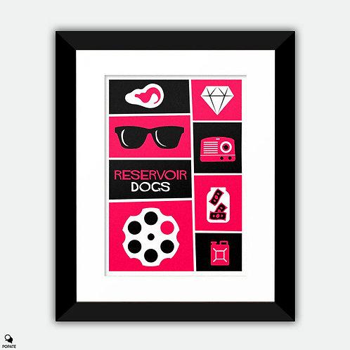 Reservoir Dogs Saul Bass style Vintage Framed Print
