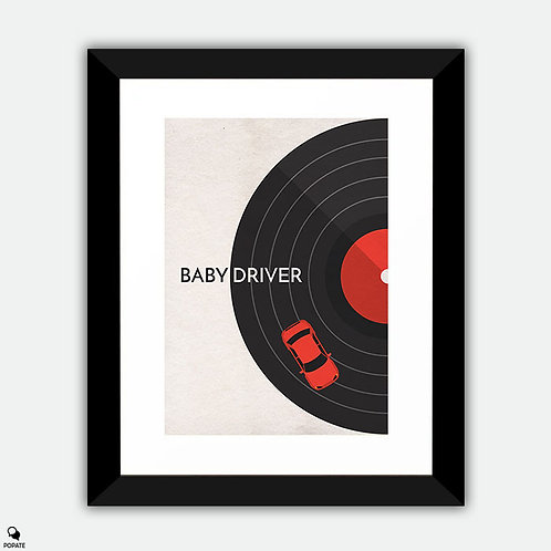 Baby Driver Minimalist Framed Print