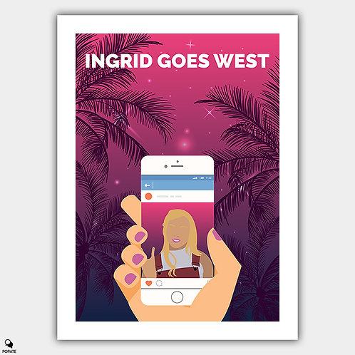 Ingrid Goes West Minimalist Alternative Poster
