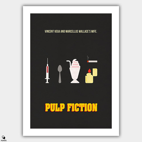 A Minimalist Poster Dedicated To Pulp Fiction