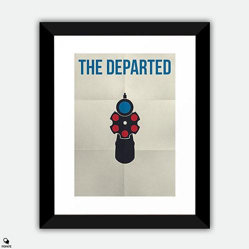 The Departed Minimalist Framed Print - Leonardo DiCaprio