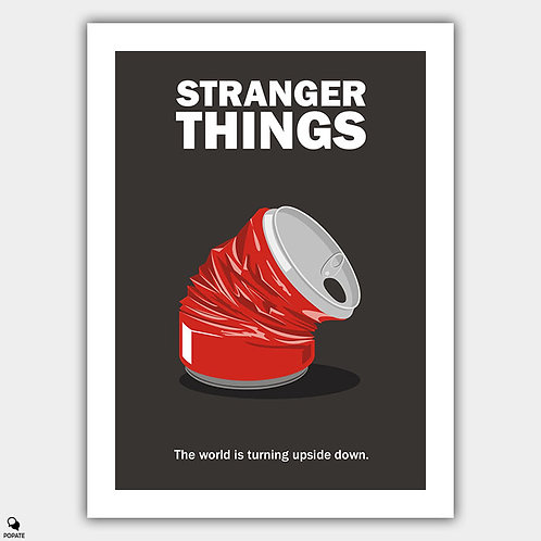 Stranger Things Minimalist Poster - Crushed Can
