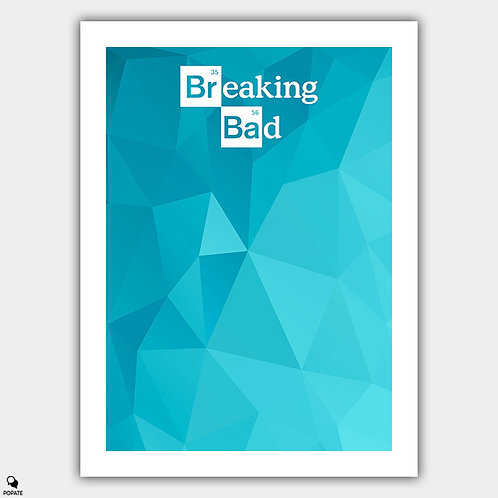 Breaking Bad Minimalist Poster - Blue Glass