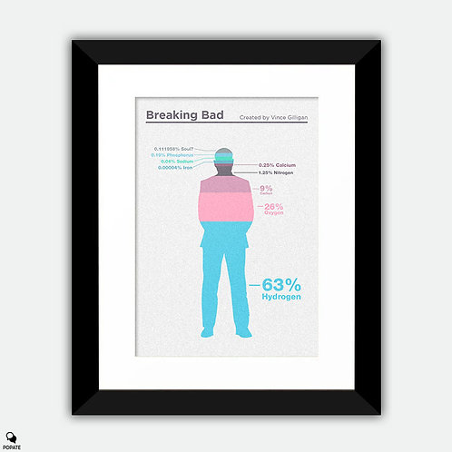 Breaking Bad Minimalist Framed Print - Composition of Gus Fring