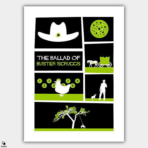 The Ballad of Buster Scruggs Saul Bass Style Vintage Alternative Poster
