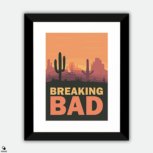 Breaking Bad Minimalist Framed Print - Four Days Out