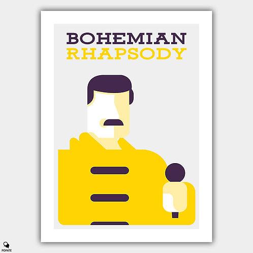 Bohemian Rhapsody Minimalist Poster - Freddie Mercury