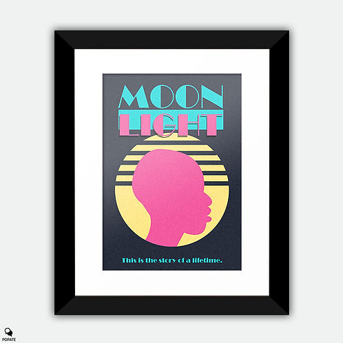 Moonlight Retro style Alternative Framed Print