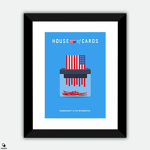 House of Cards Minimalist Framed Print