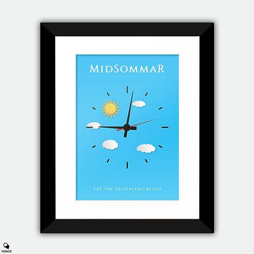 Midsommar Minimalist Framed Print