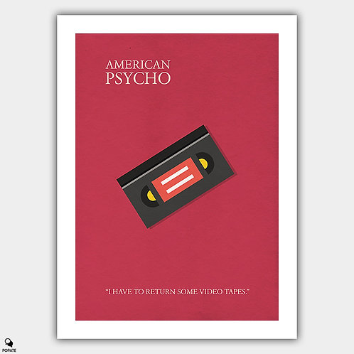 American Psycho Alternative Poster - I Have To Return Some Videotapes