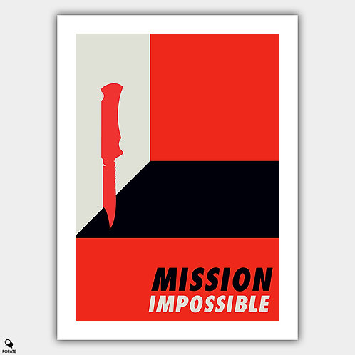 Mission Impossible Vintage Bauhaus Poster