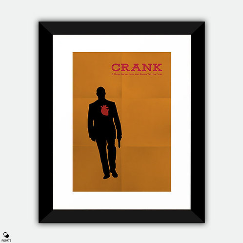Crank Minimalist Framed Print