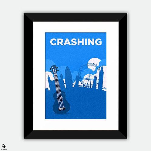 Crashing Minimalist Framed Print