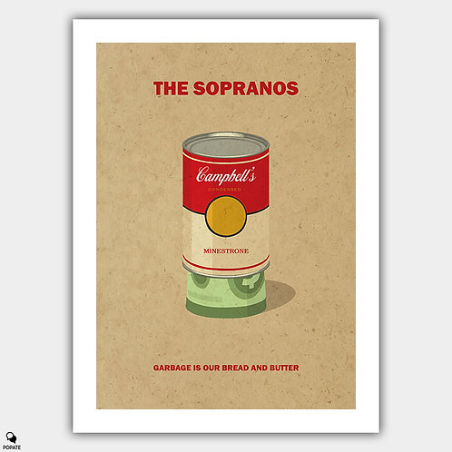 The Sopranos Alternative Vintage Poster - Garbage is our bread and butter