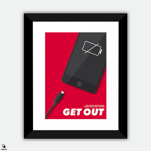 Get Out Minimalist Framed Print - No Charge