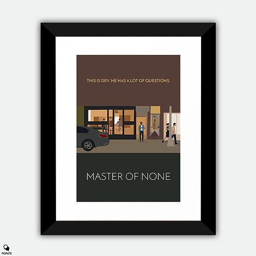 Master Of None Minimalist Framed Print