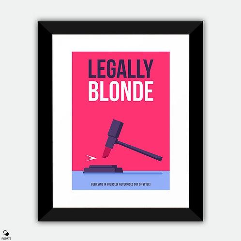 Legally Blonde Minimalist Framed Print