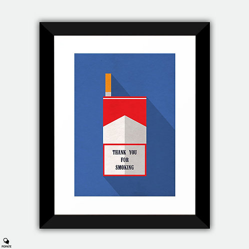 Thank You For Smoking Minimalist Framed Print