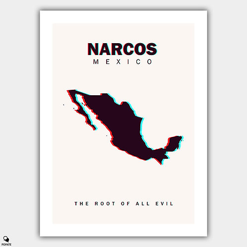 Narcos: Mexico Minimalist Poster