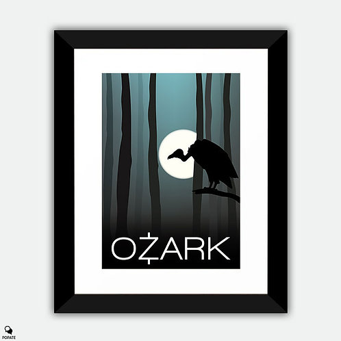Ozark Minimalist Framed Print - Vulture