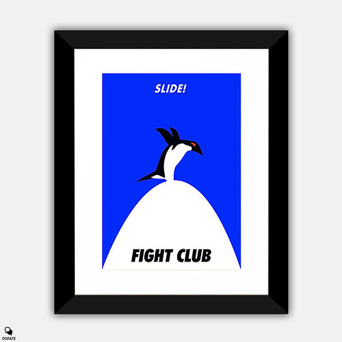 Fight Club Minimalist Framed Print - Slide
