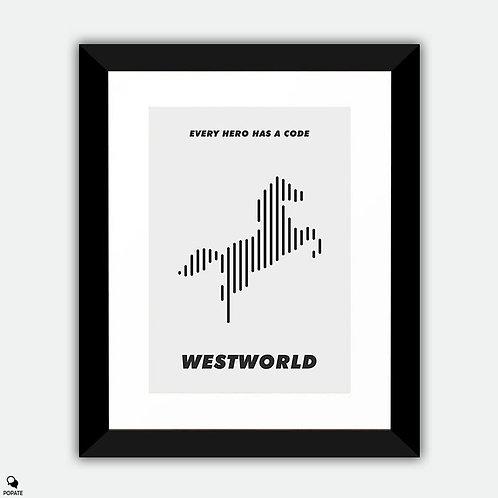 Westworld Minimalist Framed Print - Piano #1