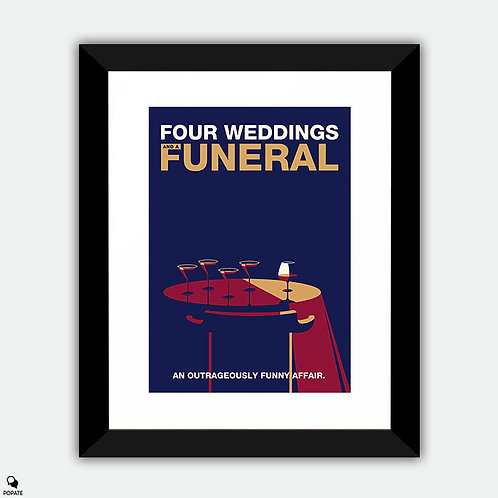 Four Weddings and a Funeral Minimalist Framed Print