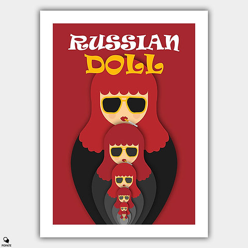 Russian Doll Minimalist Poster - Nested Iterations