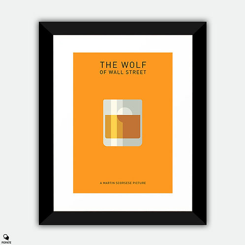 The Wolf Of Wall Street Minimalist Framed Print - Pong