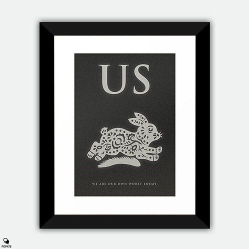 Us Minimalist Framed Print - Rabbit