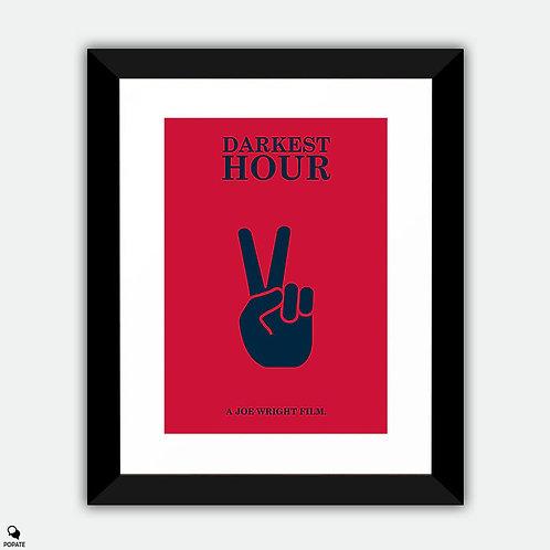 Darkest Hour Minimalist Framed Print