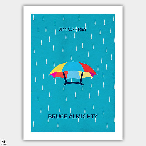Bruce Almighty Minimalist Poster