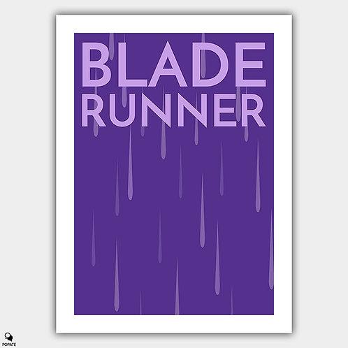 Blade Runner Minimalist Poster - Rain