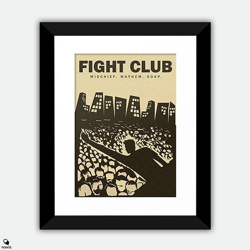 Fight Club Alternative Vintage Style Framed Print