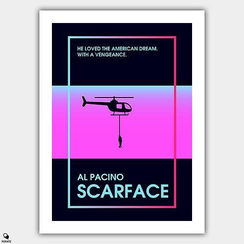 Scarface Minimalist Poster - '80s Retro Style