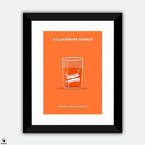 A Clockwork Orange Minimalist Framed Print - Dentures