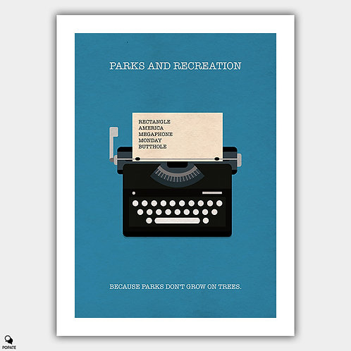 Parks And Recreation Minimalist Poster - Typewriter