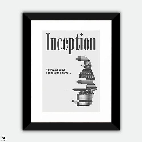 Inception Minimalist Framed Print - Scene of Crime