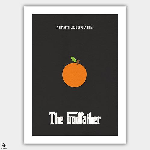 The Godfather Minimalist Poster - Orange