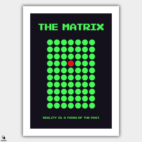 The Matrix Minimalist Poster - The Woman in Red