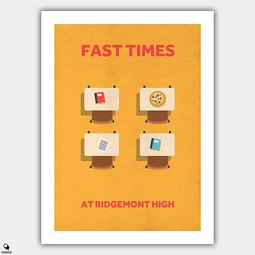 Fast Times At Ridgemont High Minimalist Poster